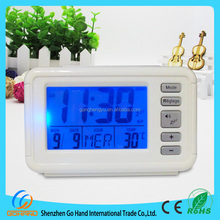 Desktop Digital Calendar Weather Station Clock Wood Alarm Clock