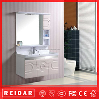 China modern design soft closer waterproof PVC wall-mounted bathroom vanity cabinets