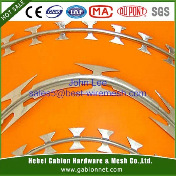 BTO 22 10mm 450mm OD FACTORY SUPPLY Concertina Razor Wire