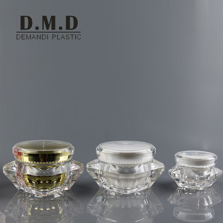 clear empty 5g 10g 15g plastic diamond cosmetic jar
