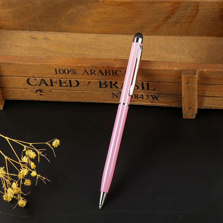 New style promotional slim metal stylus ball pen colorful metal touch ballpoint pen