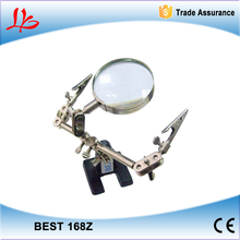 Original BEST 168Z Desktop magnifying glass with clip for cell phone SMD repair soldering tool
