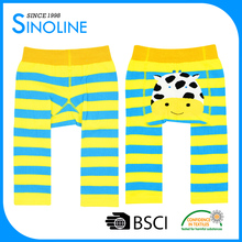 custom combed cotton breathable wide back panel softtextile icing baby leggings