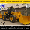 wheel loader CE, automatic transmission,china popular 5t loader