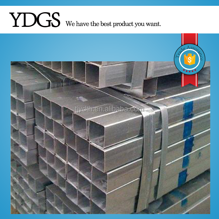 GI RHS ! square galvanized piping 2.5 inch galvanized square steel pipe in stock
