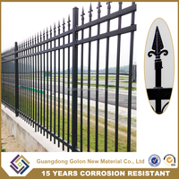Hot sale PVC coated welded security metal fence spikes, anti climb security fence