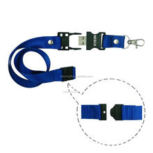 2017 new design hot sale cheap custom printing lanyard neck strap with usb flash drive