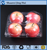 4 compartment takeaway transparent fruit plastic tray for fresh apple packaging