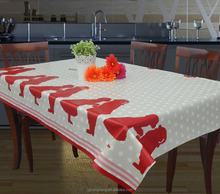 valentine holiday PVC table cloth waterproof