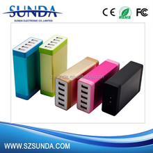 OEM custom usb home charger 5 port usb wall charger 5V 7A