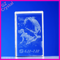 New design crystal wedding anniversary gifts idea 3D laser crystal cube