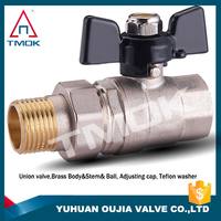 CE approved brass ball vale with forged CW617n and high quality and one way motorized