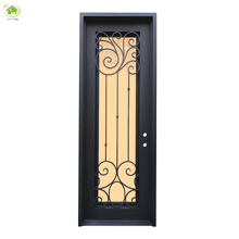 Modern wholesale wrought iron door frame storm iron doors