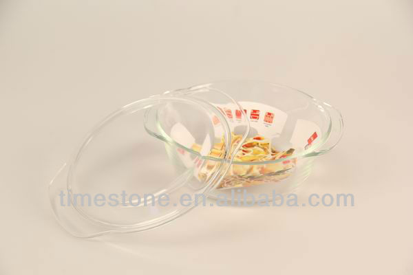 Oven Safe High Borosilicate Pyrex Glass Casserole Set With Lid