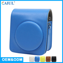 Instant Waterproof PU Leather Hard Shell Retro Small Mini70 Camera Case With Adjustable Straps