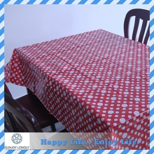 Waterproof Eco-Friendly Material Printed Flannel Backed Peva Vinyl Tablecloth