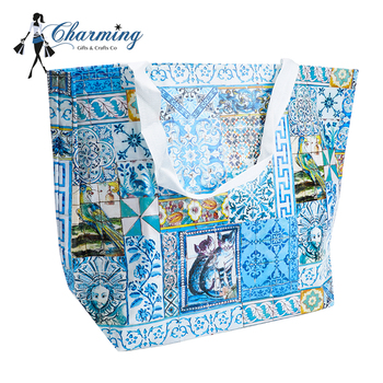 2018 New fashion High quality printing large tote bags cheap non woven tote bag