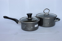 quality guarantee porcelain enamel cookware sets with mirror face