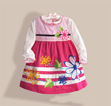 High Quality Children Clothing Manufacturers / Winter Dresses For Girls Long Sleeve Girls Winter Frocks zoe0015