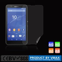 High quality !! Japan PET Anti-Fingerprint High Clear Mobile Phone Screen protector for Sony Xperia E4