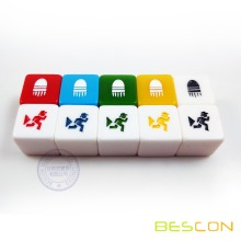 "3/4"" 19MM custom printing dice set, casino dice, 19MM dice"