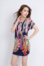 print blouse for middle aged women / Women summer clothes/fat women tops wholesale