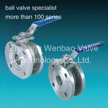 Stainless Steel Wafer Type Ball Valve With Direct Mounting Pad /Italy type thin type wafer connection ball valve with lever
