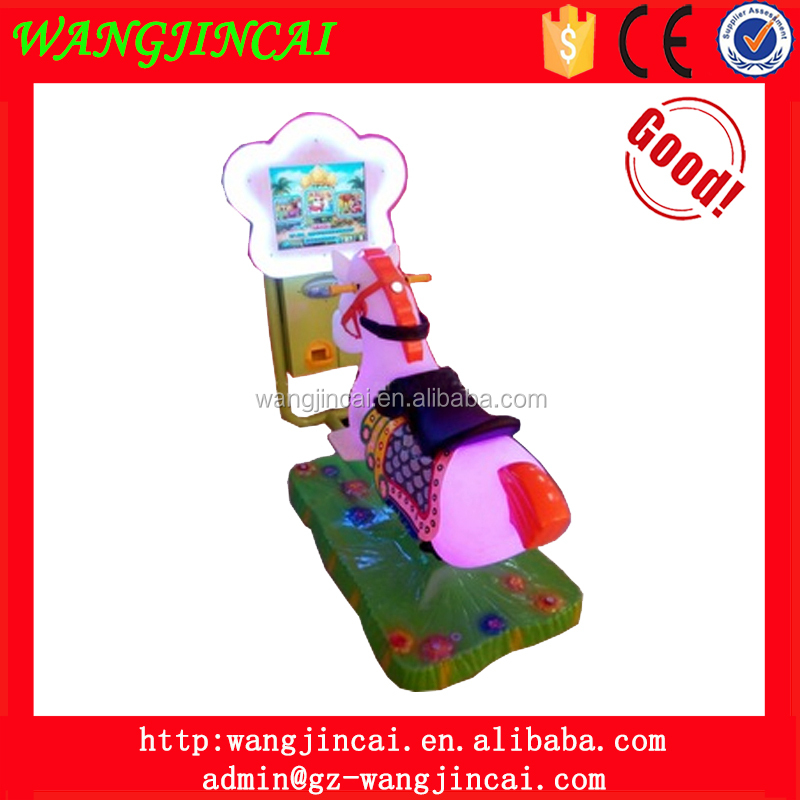 coin operated kiddie ride amusement machines flower horse swing car video arcade games for sale cheap