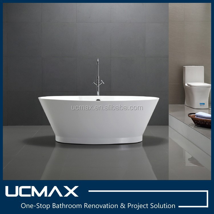 The oval bowl tub for Sanitaryware with Spillway hole