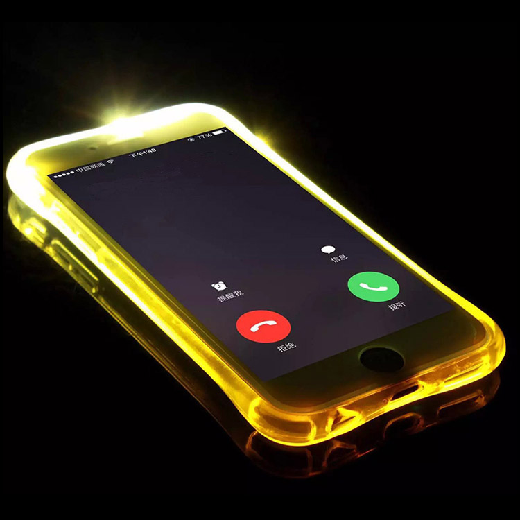 Custom Incoming Called Led Light Up Case Cell Phone Case For iPhone7 iPhone 7 Plus Case Wholesale