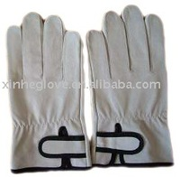 leather driver glove velcro
