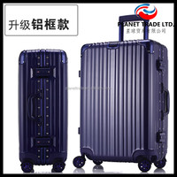 Fashionable popular Aluminum Trolley Abs Luggage trolley travel luggage case