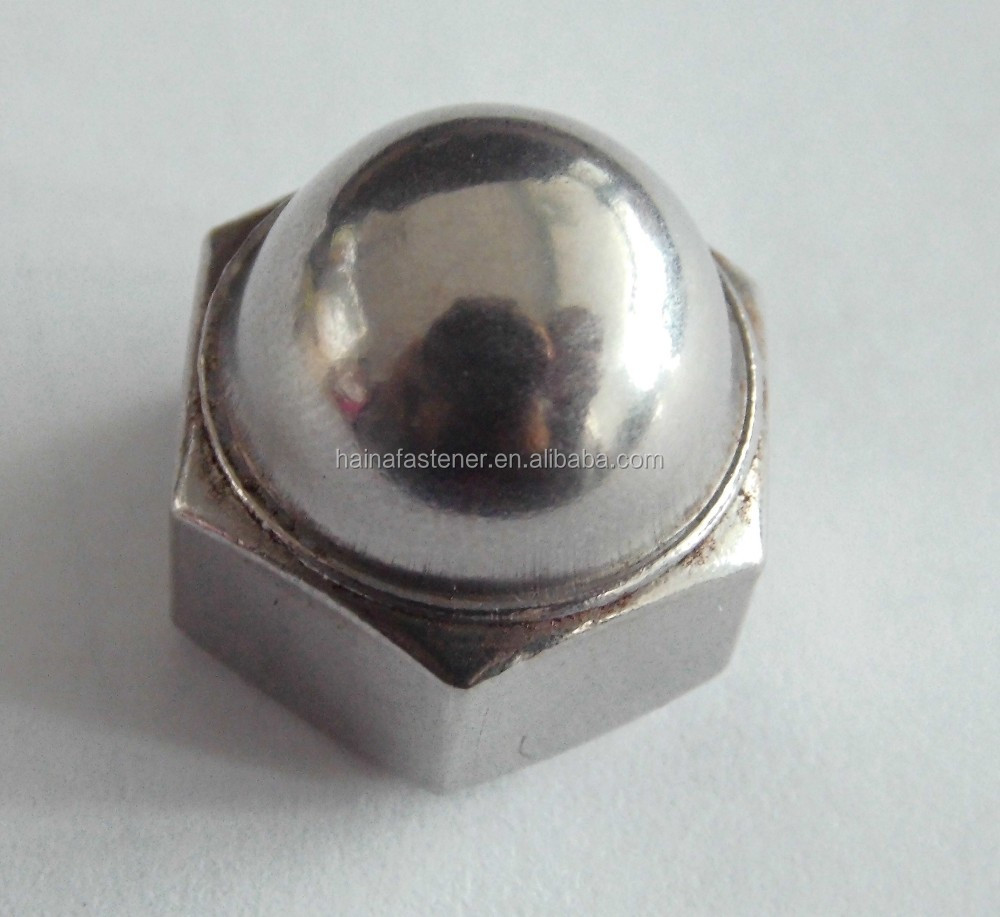 Hex Cap Nuts, hex cap nuts with domed head, stainless steel hex domed nut
