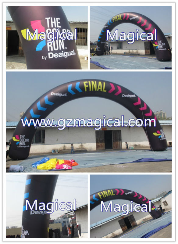 cheap digital printing LED lighting inflatable entrance archway