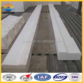 refractory plate AZS33 supplier for glass table furnace refractories fire brick