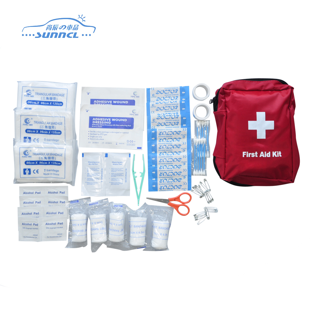 Wholesale factory mini travel car first aid kit, private label medical first aid kit, small pocket military first aid kit