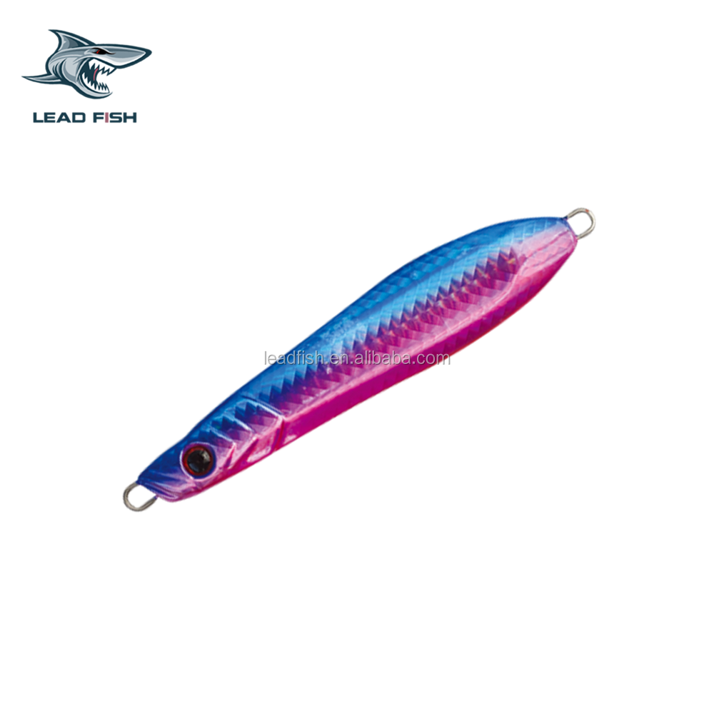 LF19-LEADFISH 50g/80g/100g/160g/210g/360g/ Artificial Fishing Lures Pike Vertical Speed Metal jig lure