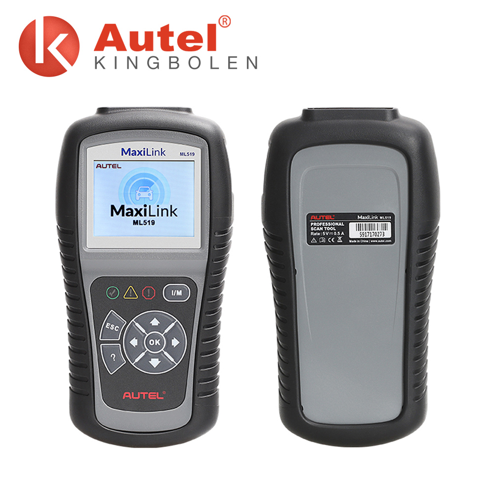 Features the unique patented One-Click Readiness Key AUTEL ML519 AutoLink diagnostic code reader