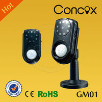 Concox warehouse alarm system GM01 home camera security system with 0.3 mage pixel camera/ battery operated hidden camera