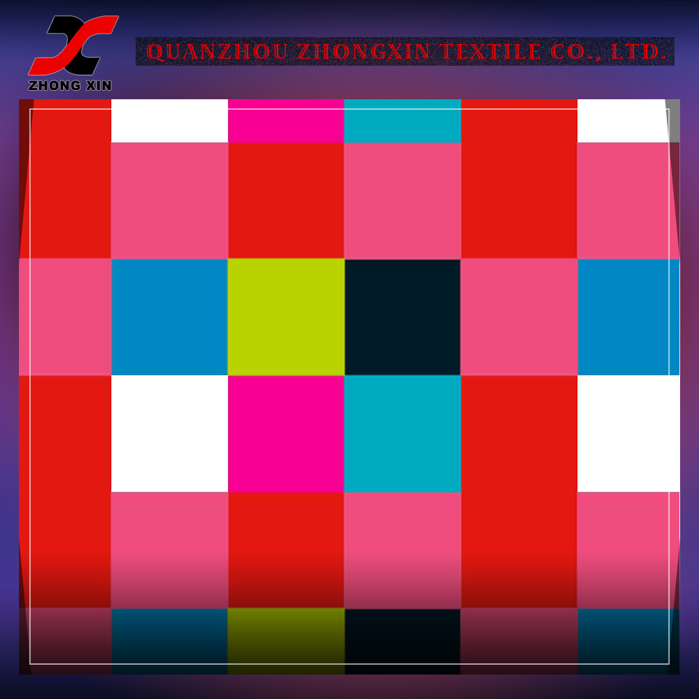 wholesale grid stretch waterproof weft knitted nylon elastane fabric for leggings