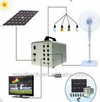 solar home power system with larger battery capacity