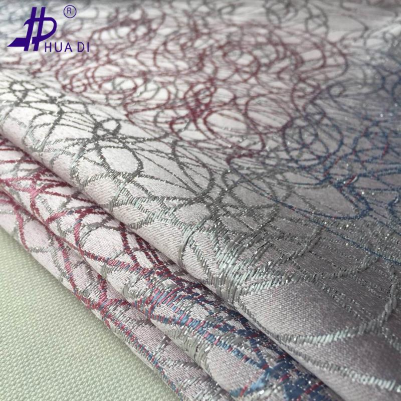 100%polyester woven gradient color jacquard fabric for hometextile,cafe,hotel curtains