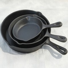 cast iron poffertje pan with non-stick inner
