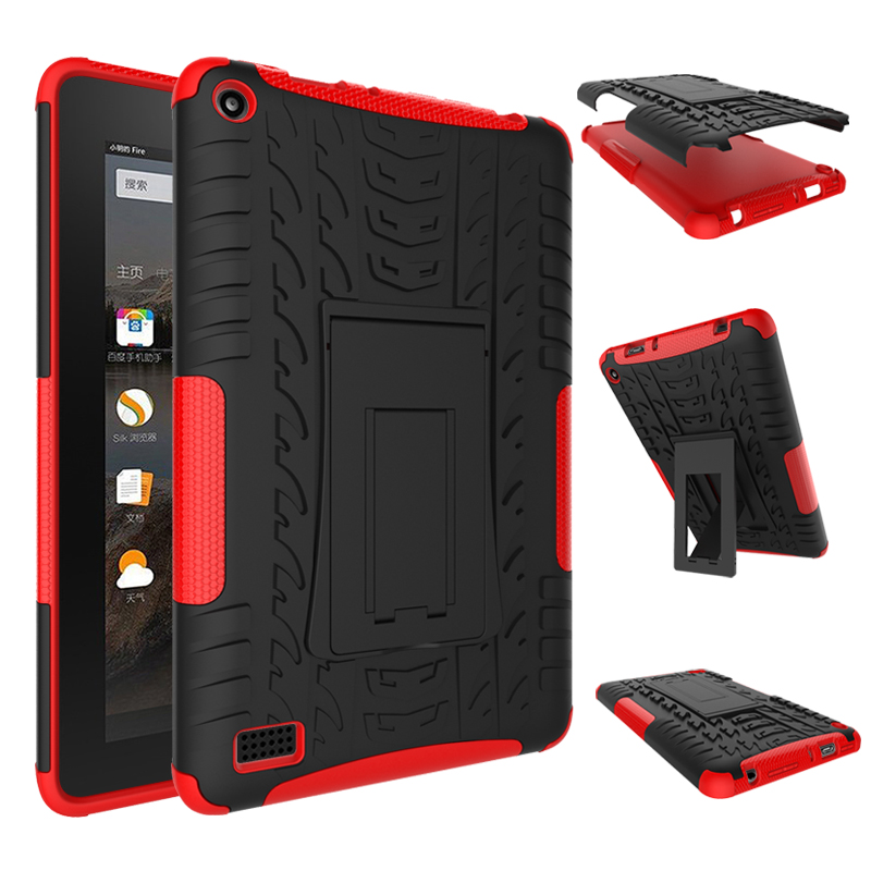For Amazon Kindle Fire HD 7 2015 , Brand new Shockproof Protective Rugged Rubber Silicone PC Tablet Case