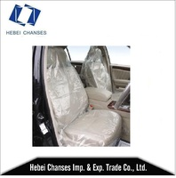 On sale cheap ldpe white/clear color plastic disposable car seat cover