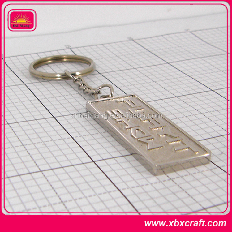 promotional stylish sublimation hotel key rings
