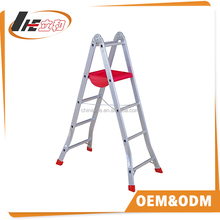 low price adjustable foot aluminium step ladder