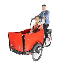 China factory price bakfiets family front loading 3 wheel cargo electric trike motorcycle