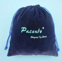 Best sellers wholesale velvet pouch bag Factory made strictly checked