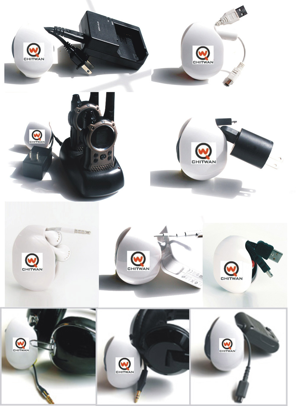 Shenzhen supplier AUTOMATIC cord organizer , self-rod cable winder for headphones & earbuds